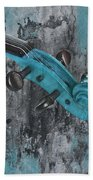 Violinelle - Turquoise 04d2 Beach Towel by Variance Collections