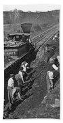 Virginia: Railroad, C1861 Beach Towel
