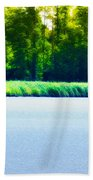 Virginia Tides Beach Towel by Bill Cannon