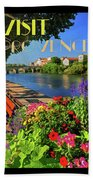 Visit Provence Poster Beach Towel