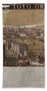 Visscher: London, 1650 Beach Towel