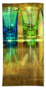 Vodka Glasses Beach Towel by Svetlana Sewell