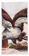 Vulture Attacking A Snake Beach Towel