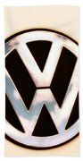 Vw Emblem Beach Towel