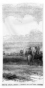 Wagon Train, 1859. For Licensing Requests Visit Granger.com Beach Towel
