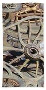 Wagon Wheel Fractal Beach Towel