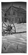 Wagon Wheel In Winter Beach Towel
