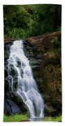 Waimea Valley Falls Beach Towel