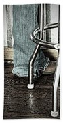 Waitress In Boots Beach Towel by Chris Berry
