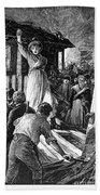 Wales: Rebecca Riots, 1843 Beach Towel