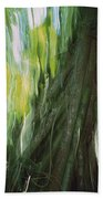 Walking Palm Tree Abstract Beach Towel
