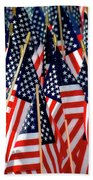 Wall Of Us Flags Beach Towel