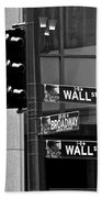 Wall Street And Broadway Beach Towel