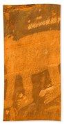 Wall Street Cliffs Petroglyph - Moab Beach Towel