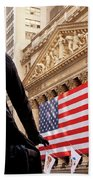 Wall Street Flag Beach Towel
