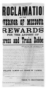 Wanted Poster, 1881 Beach Towel