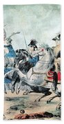 War Of 1812 Battle Of New Orleans 1815 Beach Towel by Photo Researchers