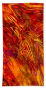 Warmth And Charm - Abstract Art Beach Towel
