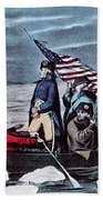 Washington Crossing The Delaware, 1776 Beach Towel