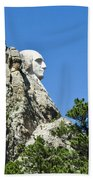 Washinton On Mt Rushmore Beach Towel