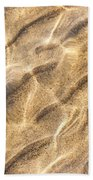 Water And Sand Ripples Beach Towel