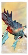 Water Dragon Beach Towel by Bob Orsillo