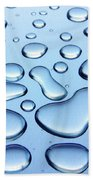 Water Drops Beach Towel by Carlos Caetano