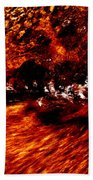 Water Flowing Abstract Beach Towel