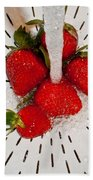Water For Strawberries Beach Towel