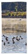 Water Fowl At Lake Wilhelmina Arkansas Beach Towel
