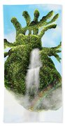 Water From The Heart Beach Towel
