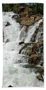 Water In Motion Glen Alpine Falls Beach Towel