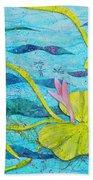 Water Lilies Panorama Beach Towel