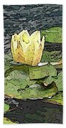 Water Lily Cometh Beach Towel