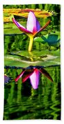 Water Lily Pond Garden Impressionistic Monet Style Beach Towel