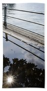 Water Puddle Beach Towel