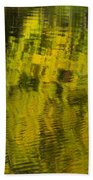 Water Reflection Abstract Autumn 1 E Beach Towel