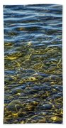 Water Ripples And Reflections On Lake Huron Beach Towel