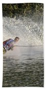 Water Skiing 14 Beach Towel