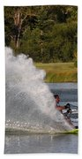 Water Skiing 6 Beach Towel