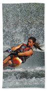 Water Skiing Magic Of Water 15 Beach Towel