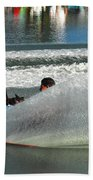 Water Skiing Magic Of Water 17 Beach Towel