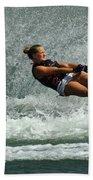 Water Skiing Magic Of Water 2 Beach Towel