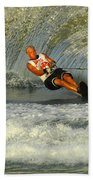 Water Skiing Magic Of Water 4 Beach Towel by Bob Christopher