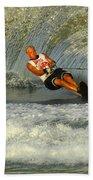 Water Skiing Magic Of Water 4 Beach Towel