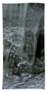 Water Wall And Whirling Bubbles Beach Towel