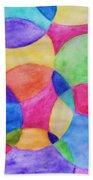 Watercolor Circles Abstract Beach Towel