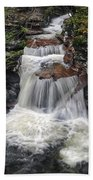 Waterfall At Ricketts Glen Beach Towel