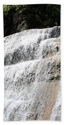 Waterfall At Treman State Park Ny Beach Towel