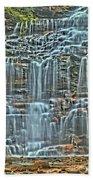Waterfall Highights Beach Towel